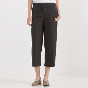 EUC Theory Cropped Linen Tennen Pants Olive